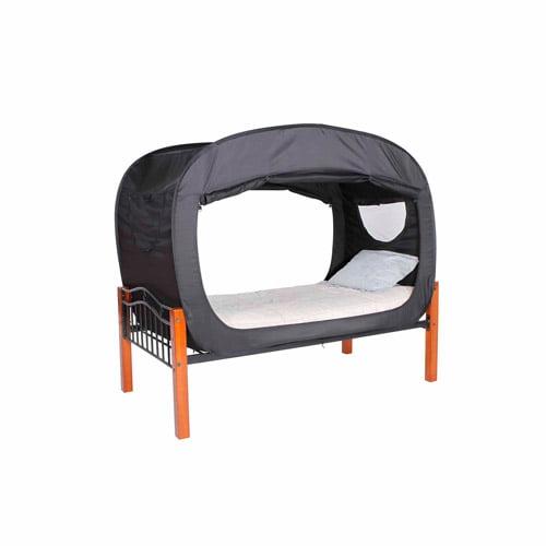 Privacy Pop Bed Tent Twin Bunk Black Walmart Com