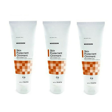 McKesson Vitamin A & D Ointment 4oz Tube - 3 Tubes