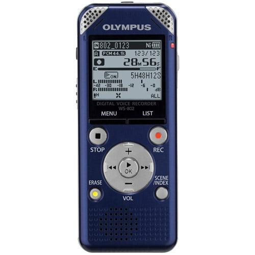 Olympus WS-802 Voice Recorder, Blue
