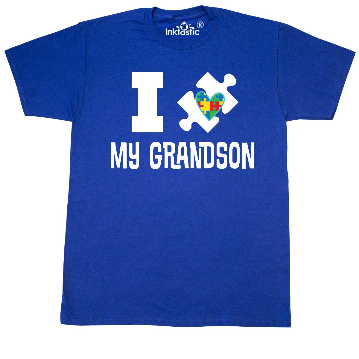 Inktastic Autism Support I Love My Grandson T-Shirt Awareness Disorder Spectrum by Inktastic