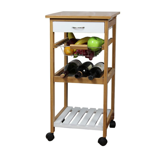 White Kitchen Trolley natural white kitchen trolleyurban port - walmart