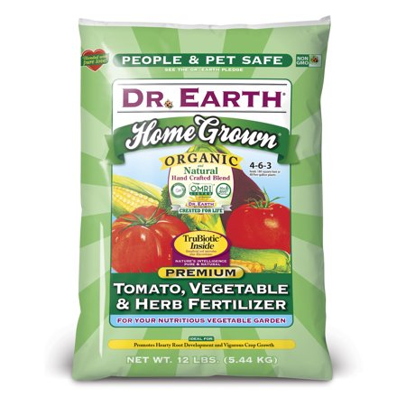Dr. Earth Organic & Natural Home Grown Tomato, Vegetable & Herb Fertilizer, 12 (Best Fertilizer For Herbs In Pots)