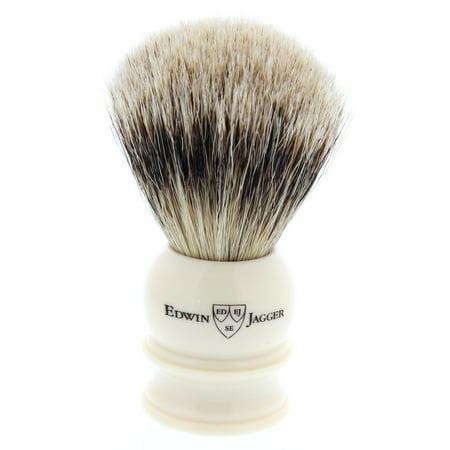 Sugar Skull Makeup Tips (Edwin Jagger Silver Tip Badger Shaving Brush, Medium, Imitation)