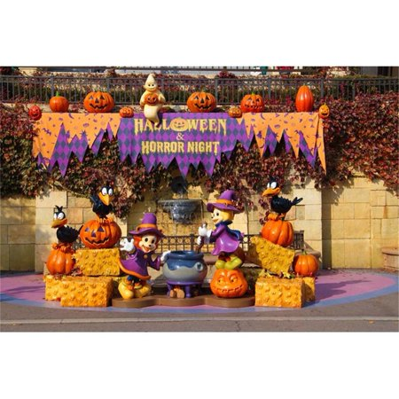 MOHome Polyester Fabric 7x5ft Background Backdrop Photography for Halloween Party Ghost with Pumpkin Food Backdrops for Kids Festival - Foods For Halloween Party