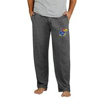 Kansas Jayhawks Concepts Sport Quest Knit Pants - Charcoal