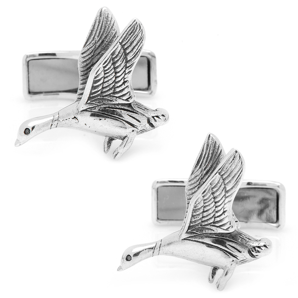 Ravi Ratan Duck Hunting Sterling Silver Wedding Formal Event Prom Cufflinks NEW