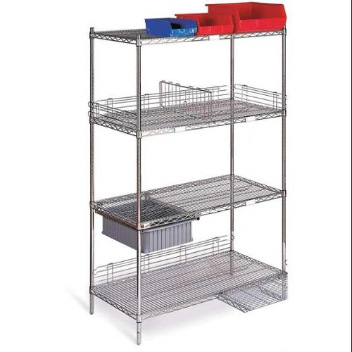 CC2460C-SRP Wire Shelving Cart, 800 lb., 68 In.H