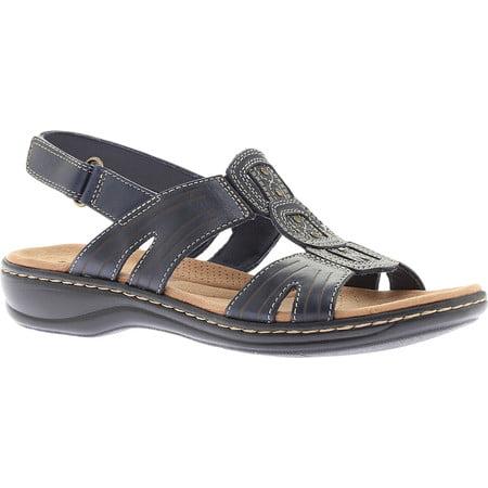 119658c78f17 Clarks - Womens Clarks Leisa Vine Caged Sling Back Flat Sandals ...