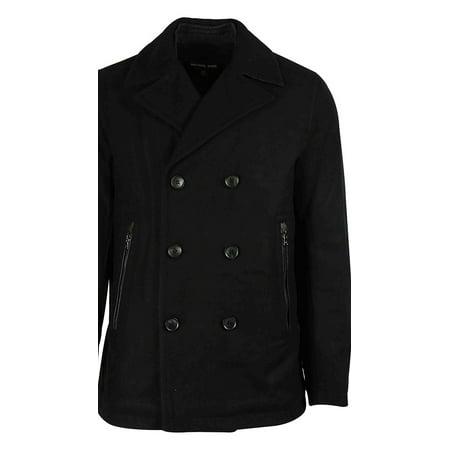 8a7433047c3 MICHAEL Michael Kors - Michael Kors Bisbee Men s Wool Blend Double-Breasted  Peacoat - Walmart.com