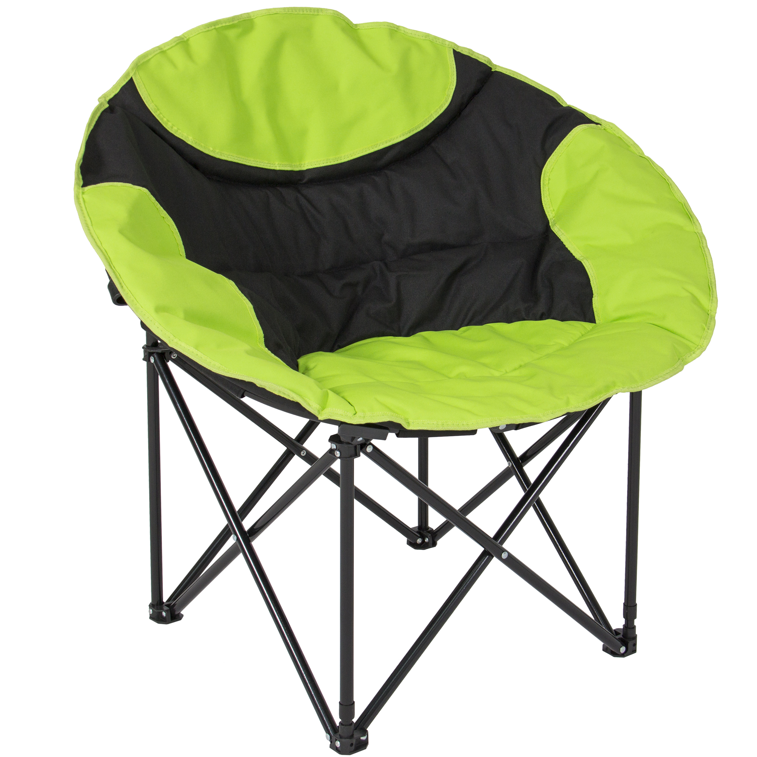 Best Choice Products Outdoor Foldable Lightweight Camping Sports Chair w/ Large Pocket, Carrying Bag- Green