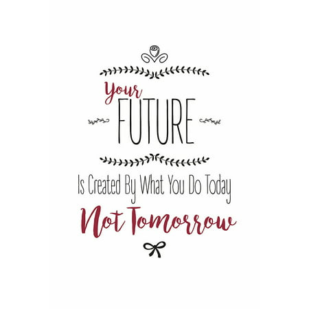 Your Future Is Created By What You Do Today Not Tomorrow Quote Cute Swirl Design Print Inspirational Motivational Poster