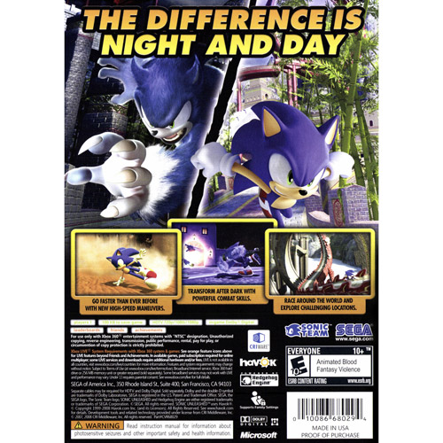 Sonic Unleashed Pc Price
