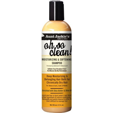 Aunt Jackie's Oh So Clean Moisturizing and Softening Shampoo, 12