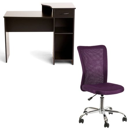 Desk and Chair Set: Mainstays Student Desk and Mainstays Desk Chair, Multiple Colors