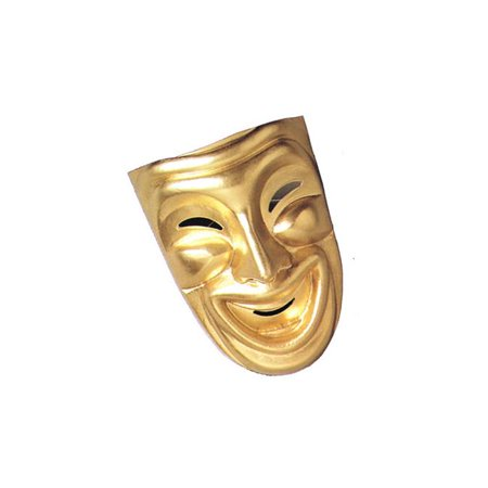 Costumes For All Occasions MA803 Comedy Mask Gold - image 1 of 1