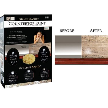 Giani Countertop Paint Kit Sicilian Sand Walmart Com