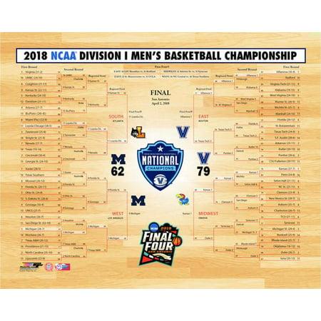 Villanova Wildcats 2018 NCAA Mens College Basketball National Champions Bracket Photo Print