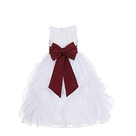 2e41d072306 Ekidsbridal Ivory Ruffled Organza Flower Girl Dress Toddler Girl Dresses  Birthday Girl Dress Easter Summer Dresses Junior Bridesmaid Dress Daily  Dresses ...