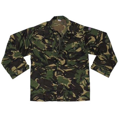 British Woodland Camouflage Combat Jacket - Chest 44 Height 75 (190-112) Woodland Camouflage Ranger Vest