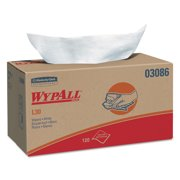WypAll L30 Towels, POP-UP Box, 10 x 9 4/5, White, 120/Box, 10 Boxes/Carton -KCC03086