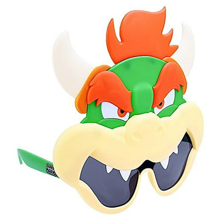 Party Costumes - Sun-Staches - Nintendo Super Mario Bowser Costume Mask sg2826 (Bowser Mask)