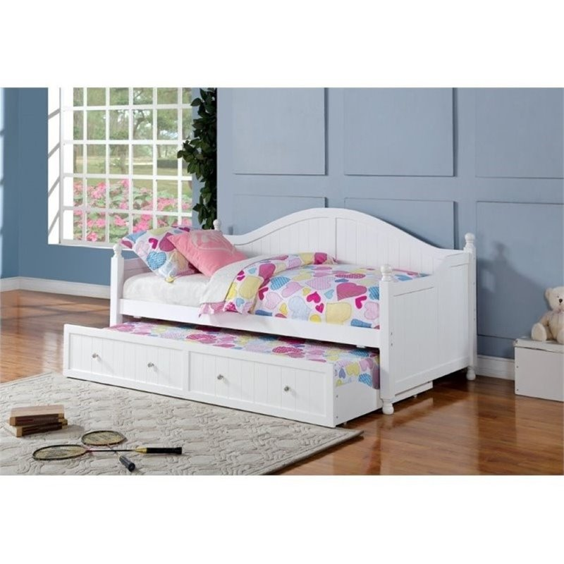 Bowery Hill Day Bed with Trundle in White by Bowery Hill