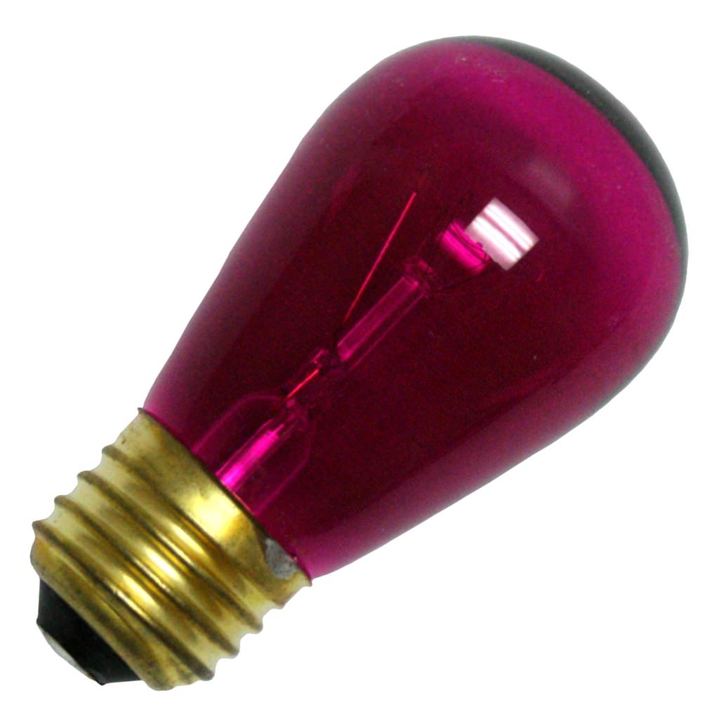 General 10776 - 11S14/TPK 130V Standard Screw Base Colored Scoreboard Sign Light Bulb