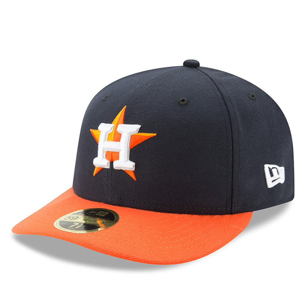 Houston Astros New Era Road Authentic Collection On-Field Low Profile 59FIFTY Fitted Hat - Navy/Orange