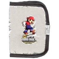 Super Mario Bros Thin Wallet [Black & Silver]