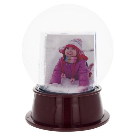 "5.5"" Insert your Own Picture Frame Snow Globe - Walmart.com"