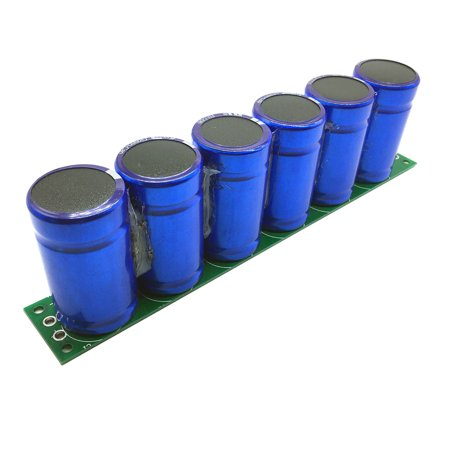 6pcs 2.7V 500F 2.5V Farad Capacitor Super Capacitance With Protection Board