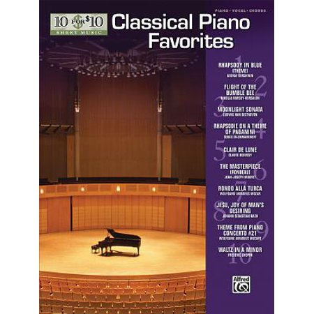10 for 10 Sheet Music Classical Piano Favorites : Piano Solos - Halloween Movie Piano Sheet Music