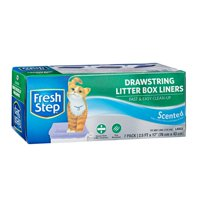 "Fresh Step Drawstring Litter Box Liners Scented, Large Size, 30"" x 17"" - 7 Count"
