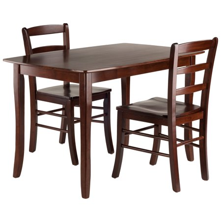 Winsome Wood Inglewood 3-PC Dining Table w/ Ladderback Chairs Set
