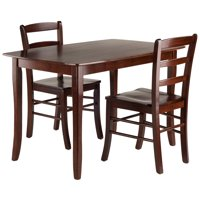 Winsome Wood Inglewood 3-PC Dining Set, Table & 2 Ladderback Chairs