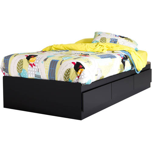 "South Shore Vito Twin Storage Bed (39"") with 3 Drawers, Multiple Finishes"