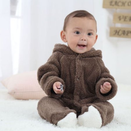 24f7a2170 BONRICH - Korean Winter Baby Rompers Long Sleeve Hooded Jumpsuit ...