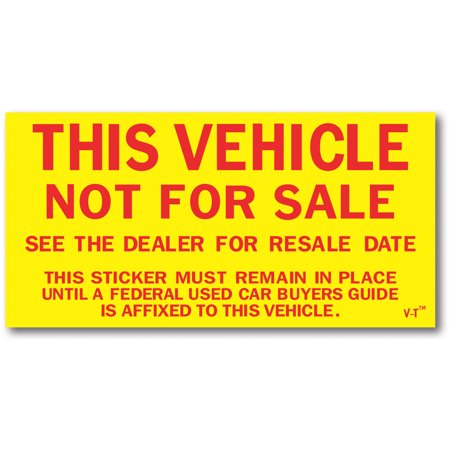 "Not For Sale Stickers - 5 1/2""W x 2 3/4""H - Pack of 100"