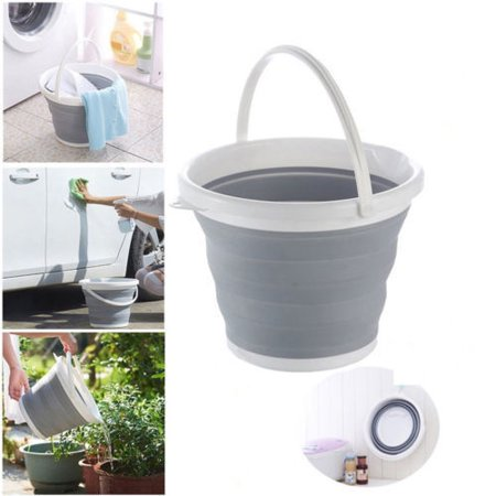 10L Collapsible Bucket Silicone Outdoor Barrel Fishing Camping Large 2.64 Gallon 5 Gallon Bucket Organizer