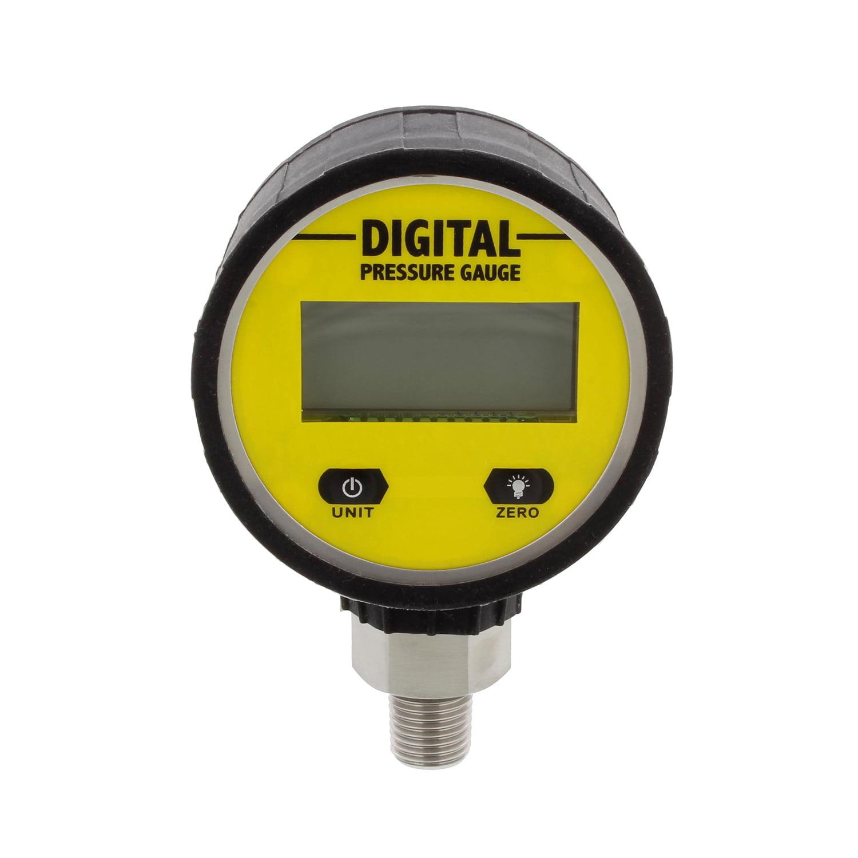 BISupply   Digital Pressure Gauge with Boot Air Pressure Gauge – 3600 PSI