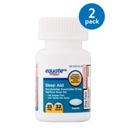 Equate Sleep Aid Doxylamine Succinate Tablets, 25 mg, 32 count