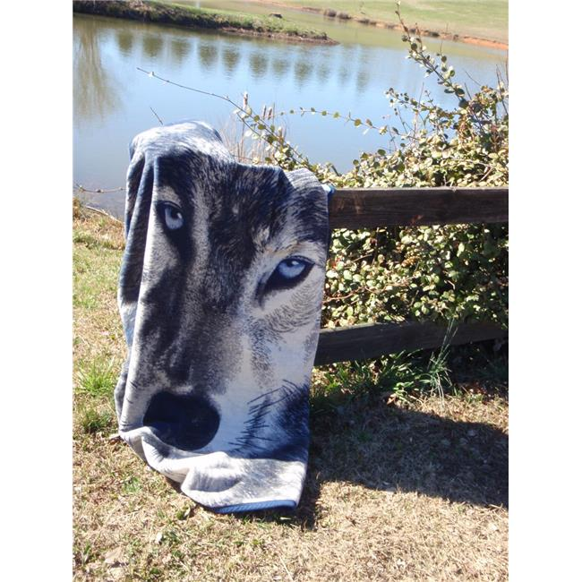 IBENA 1084-360 60 x 80 in. Sorrento Wolf Blanket