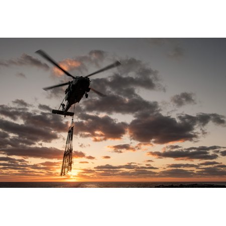 Laminated Poster An Mh 60S Sea Hawk From The Island Knights Of Helicopter Sea Combat Squadron  Hsc  25  Transports Poster Print 24 X 36