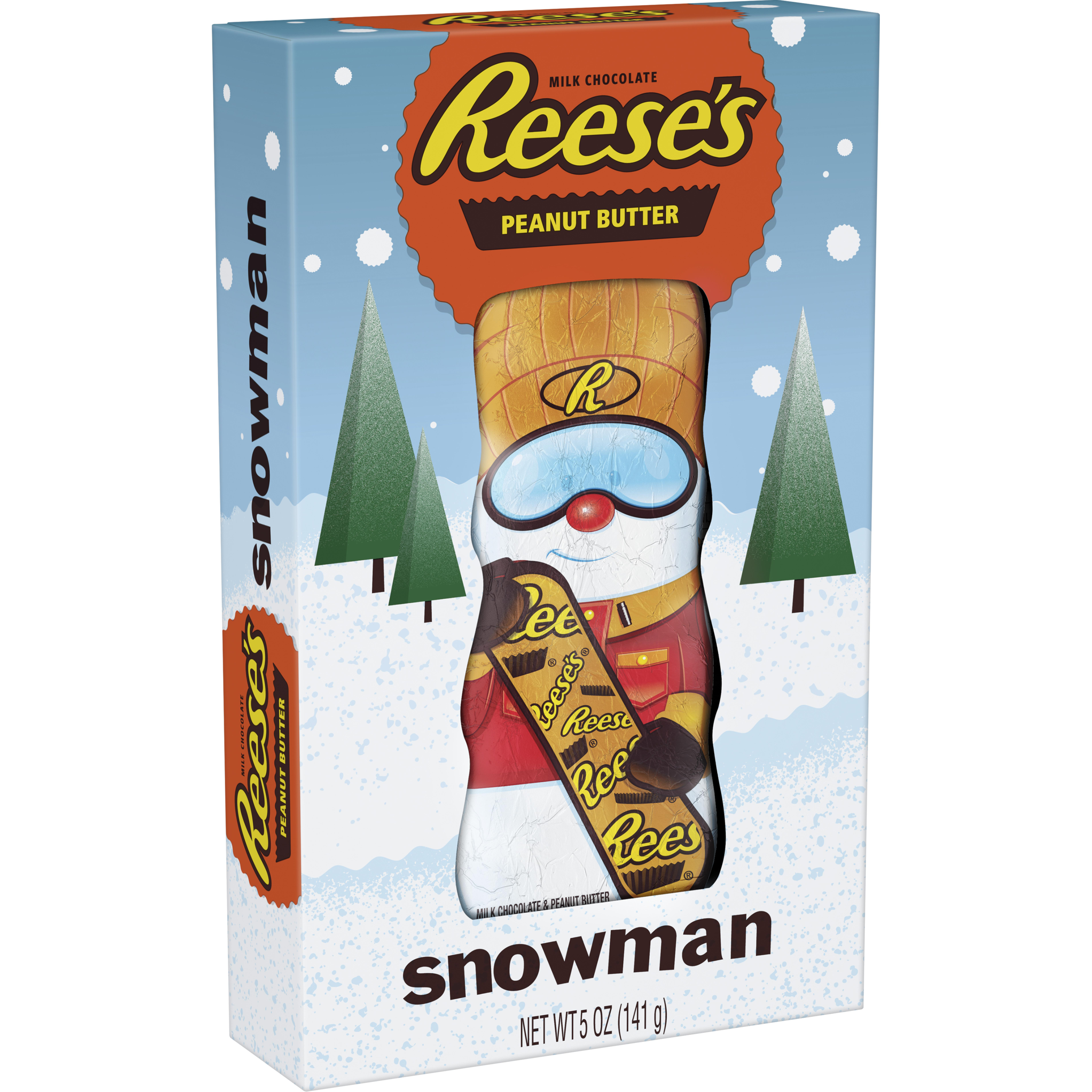 (2 pack) Reese's, Holiday Peanut Butter Snowman, 5 Oz
