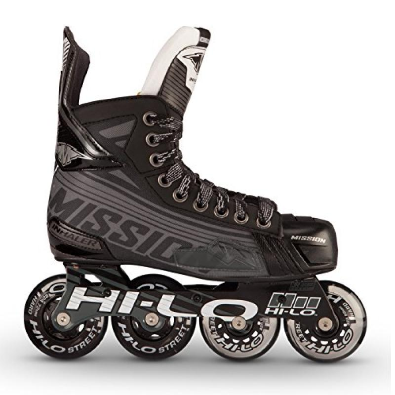 Mission Inhaler DS:7 Youth Inline Hockey Skates, 12.0 E by