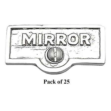 25 Switch Plate Tags MIRROR Name Signs Labels Chrome Brass | Renovators Supply