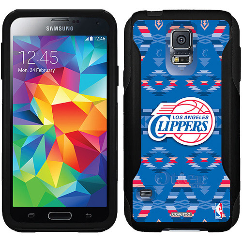 L.A. Clippers Tribal Print Design on OtterBox Commuter Series Case for Samsung Galaxy S5