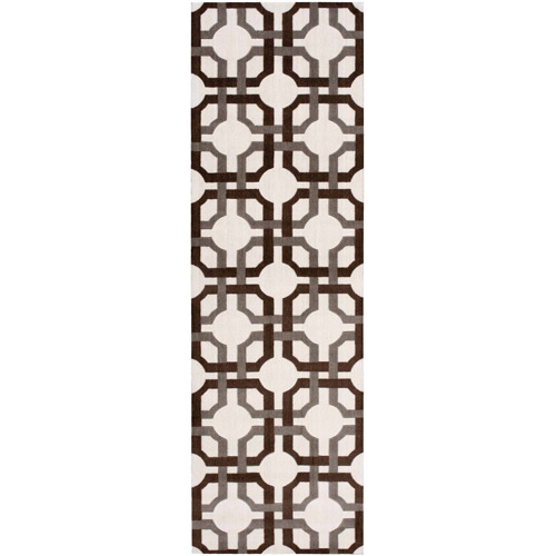 """Waverly Artisanal Delight """"Groovy Grille"""" Tobacco Runner by Nourison"""