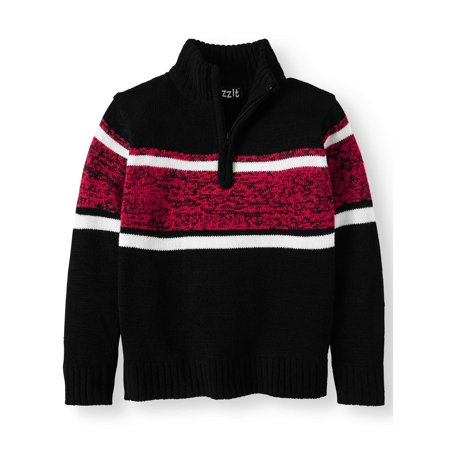 Boys' Pull Over 1/4 Sweater With - Boys Over Flowers Usa