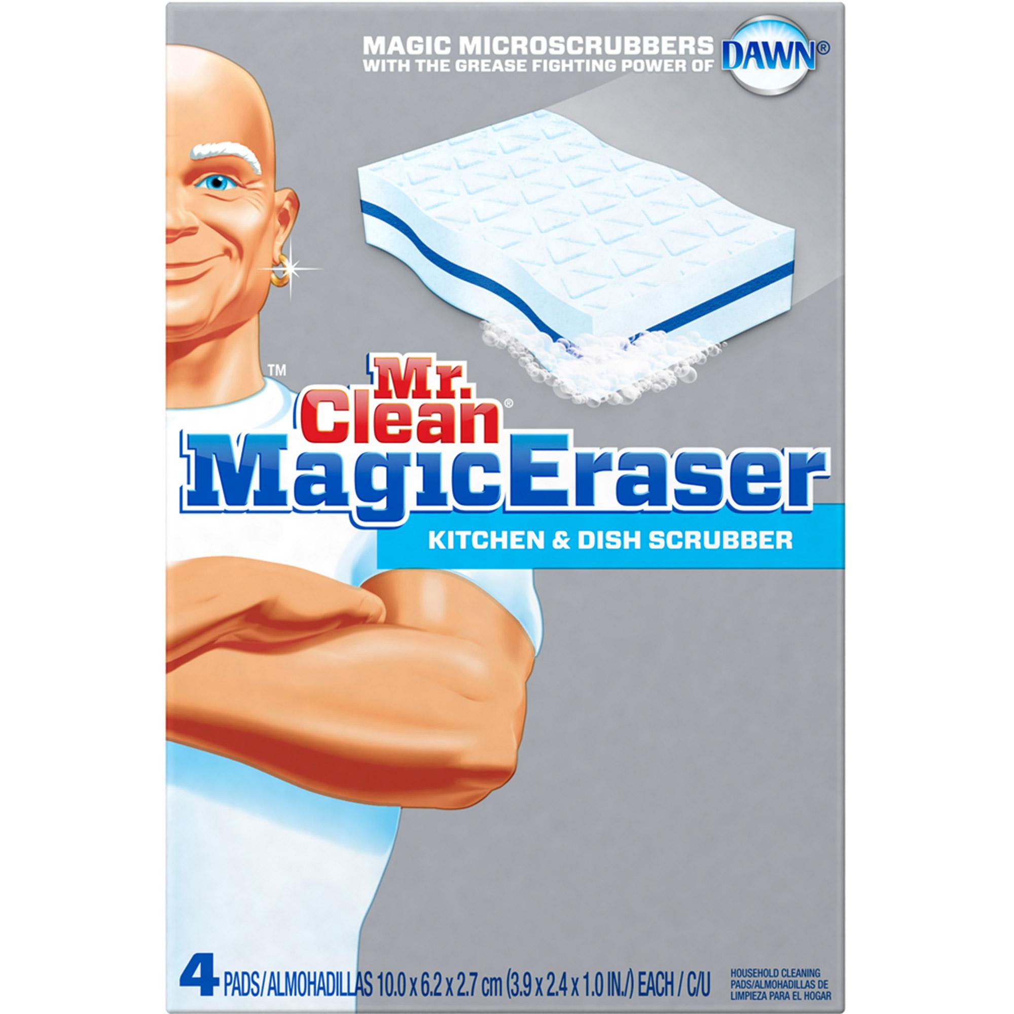 . Mr Clean Magic Eraser Kitchen   Dish Scrubber  4 count   Walmart com